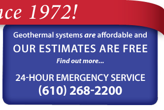 Geothermal systems are affordable and Chelsea's Estimates are Free. Find out more... 24-hour emergency service (610) 268-2200.